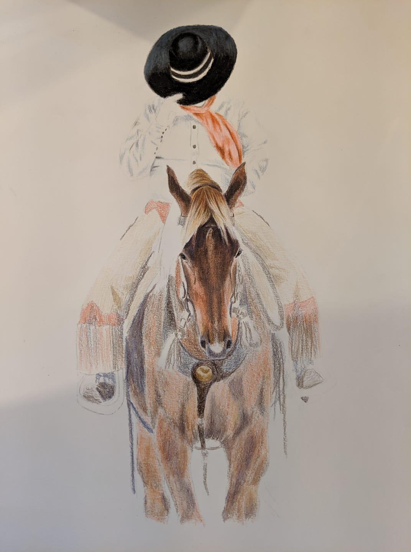 victoria barajas horse artwork